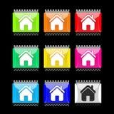 кнопки самонаводят прямоугольное Стоковая Фотография RF