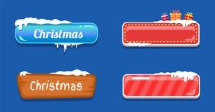 Кнопки сети большой продажи рождества лоснистые в снеге Стоковые Фотографии RF