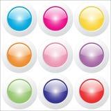 Кнопки сети - лоснистые стоковые изображения rf