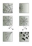 Кнопки сети паука Стоковые Фотографии RF
