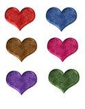 Кнопки сети формы сердца стоковое изображение rf