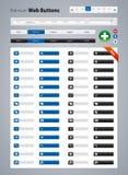 Кнопки сети Стоковые Изображения RF