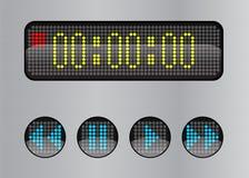 Кнопки сеты и цифровой дисплей Стоковое Изображение RF
