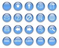 кнопки сини aqua Стоковая Фотография
