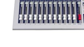 Кнопки смесителя в линии Стоковое Фото