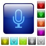 Кнопки стекла микрофона цвета Стоковые Изображения
