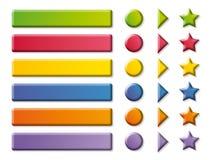 кнопки стрелок красят смешной Стоковое Фото