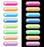 кнопки установили вебсайт Стоковое Изображение RF