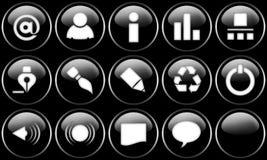кнопки установили сеть Стоковые Изображения RF
