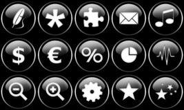 кнопки установили сеть Стоковое Изображение