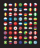 Кнопки флага Стоковое фото RF