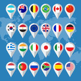 Кнопки флага Стоковое Фото