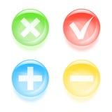 Кнопки флажка стекловидные Стоковое Фото