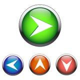 Кнопки цвета навигации (вектор) иллюстрация штока