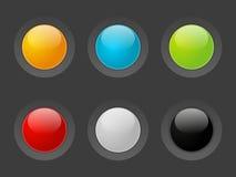 Кнопки цвета иллюстрация штока
