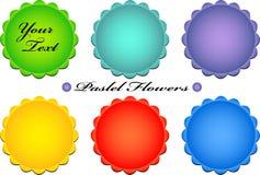 кнопки цветут пастельный вектор Стоковые Изображения RF