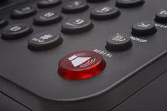 Кнопки черного крупного плана телефона стоковое фото rf