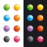 кнопки шариков лоснистые иллюстрация вектора