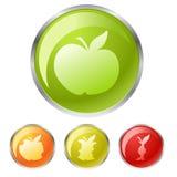 кнопки яблока Стоковые Фотографии RF