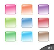 кнопки 1 разделяют глянцеватый вебсайт Стоковые Изображения
