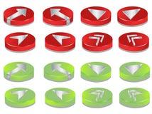 кнопки 3d Стоковое Изображение RF