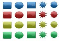 кнопки 3d Стоковые Фотографии RF