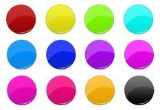 кнопки 3d Стоковые Изображения