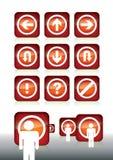 Кнопки Aqua Стоковые Изображения RF