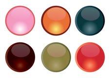 кнопки aqua Стоковое фото RF
