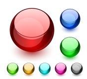 кнопки aqua Стоковая Фотография RF