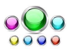 кнопки aqua Стоковое Изображение