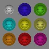 кнопки 3d Стоковое Фото