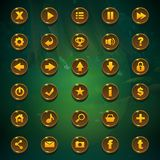 Кнопки GUI тенистого леса установленные Стоковые Фото