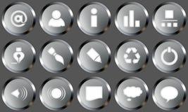 кнопки metal комплект Стоковое Изображение