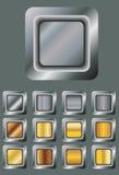 кнопки metal комплект Стоковое Изображение RF