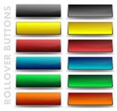 Кнопки Rollover стоковая фотография