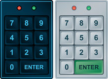 кнопочная панель входа Стоковые Изображения RF