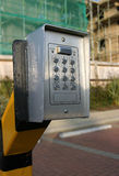 кнопочная панель выхода барьера стоковое изображение rf
