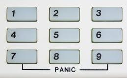 Кнопочная панель номера с паникой Стоковая Фотография