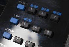 Кнопочная панель радио скеннирования Стоковые Фото