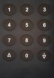 кнопочная панель численная Стоковые Изображения
