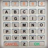 Кнопочная панель алфавита стоковые изображения