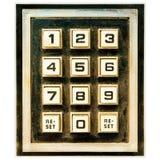 Кнопочная панель выдержанная годом сбора винограда с кнопками сброса Стоковая Фотография