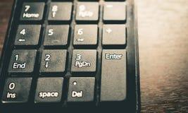 Кнопочная панель номера компьютера калькулятора Grunge пакостная Стоковые Изображения RF
