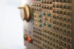 Кнопочная панель оператора CNC Стоковые Изображения RF