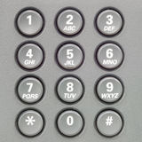 Кнопочная панель телефона Стоковое фото RF