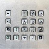 Кнопочная панель телефон-автомата Стоковое Изображение RF