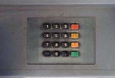 Кнопочная панель Grunge покинутого ATM Стоковые Изображения RF