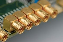 коаксиловый разъем кабеля стоковое фото rf
