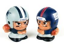 Ковбои против ` L диаграммы Giants Li игрушки товарищей по команде Стоковое фото RF